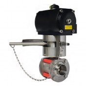 Meca-Inox dead-man lever Pneumatic actuation version